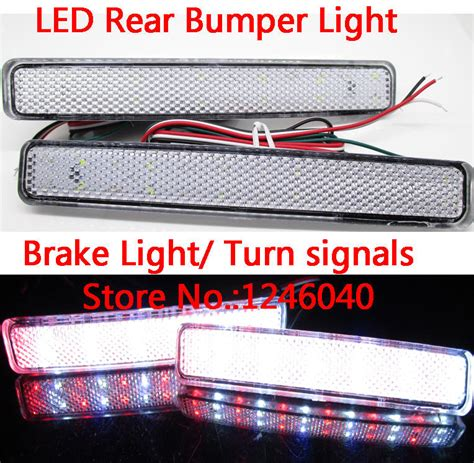 led bumper backup lights crystal lens led rear bumper reflector light brake light