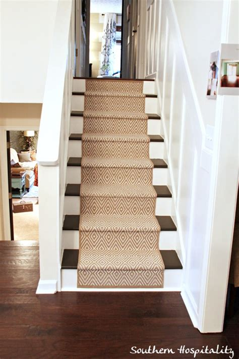 Shag Rug Runners Painted Stairs And Adding Runners Southern Hospitality