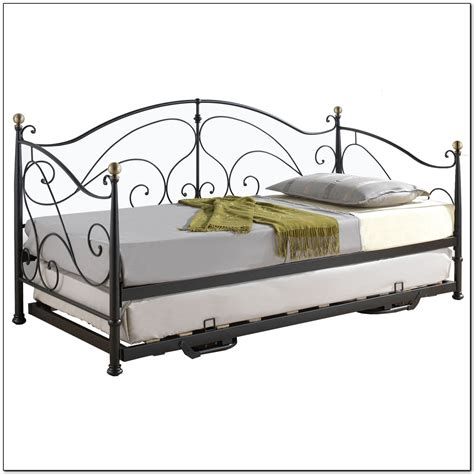 Metal Queen Bed Frame Bedroom Day Bed With Trundle Ikea Beds Home Furniture