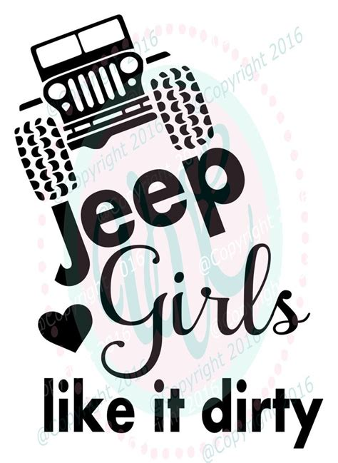 preppy jeep stickers jeep girls like it dirty svg dxf png climbing jeep