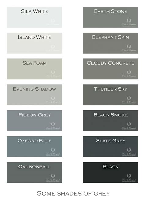 types of grays i love gray shades of grey chalk paint lime paint