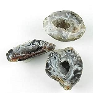 amazon.com: ocos rock mineral specimens 3 tiny geodes