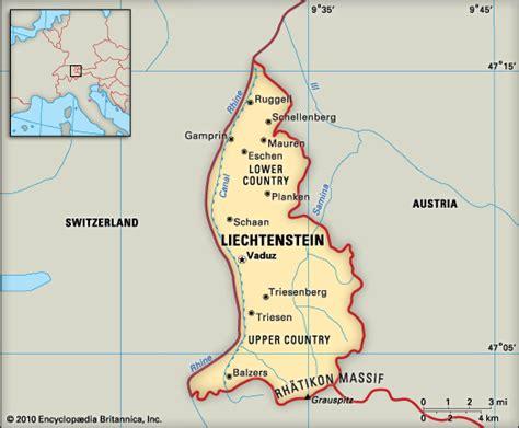 liechtenstein on a map liechtenstein coins with rulers