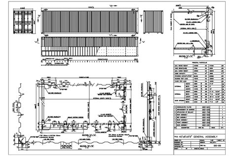dimensione casa 40hc technical drawing shipping container dimensions