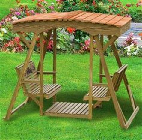 lawn glider swing plans deluxe double outdoor swing with roof option woodworking