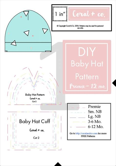 sewing pattern hat free diy baby hat sewing pattern and tutorial in sizes preemie