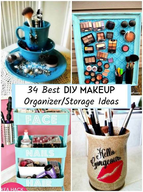 diy projects storage 34 best diy makeup organizer storage ideas diy crafts