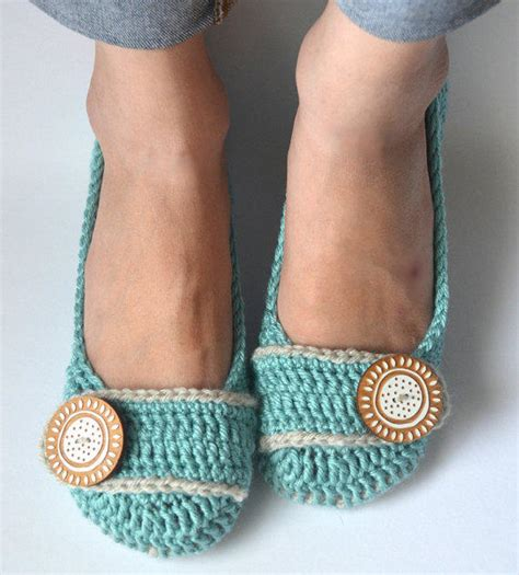 how to crochet ballerina slippers crochet womens slippers ballet flats from