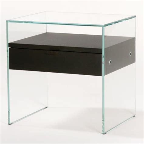 table de nuit verre table de chevet design en verre