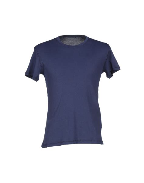 t shirts lyst care label t shirt in blue for