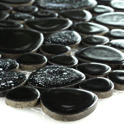 kiesel fliesen keramik kiesel mosaik fliesen schwarz tm33127m