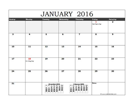 2016 monthly calendar template 2016 calendar month