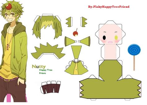 papercraft nuttyhtf by flakyhappytreefriend on deviantart