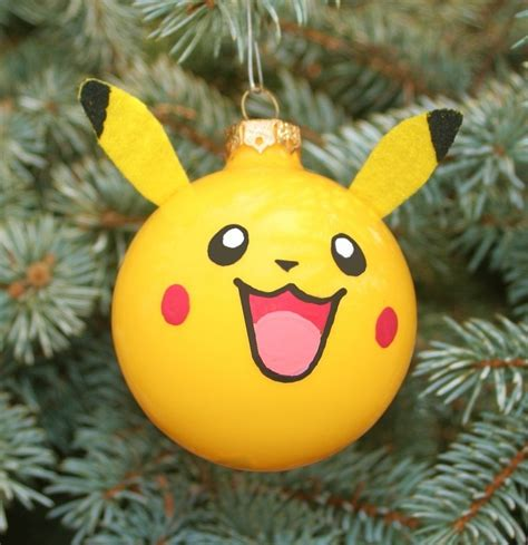 pikachu christmas ornament homemade christmas ornaments