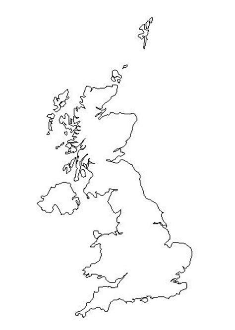 Simple Uk Outline by Free Coloring Pages Of Outline Map Of