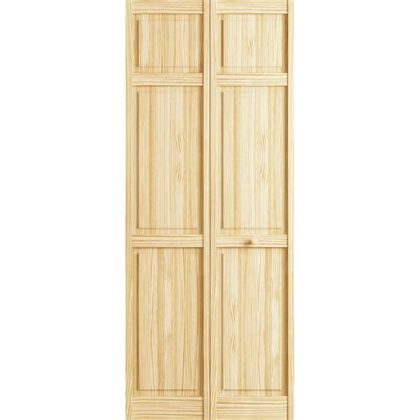 36 Bifold Closet Doors Veranda 36 In X 78 In 6 Panel Pine Interior Closet Bi Fold Door 3115984 The Home Depot
