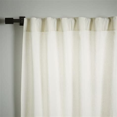linen cotton drapes linen cotton curtain stone white west elm