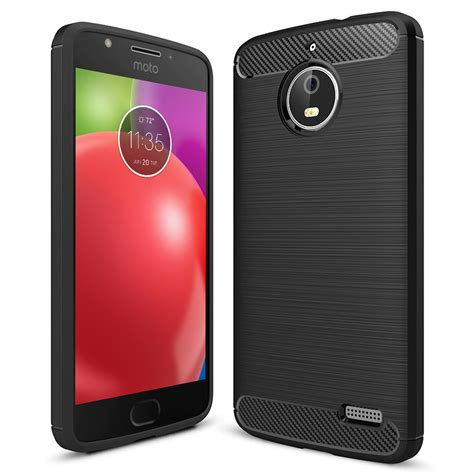 Motorola Moto E4 Plus Silikon Slim Carbon flexi carbon fibre tough motorola moto e4 black