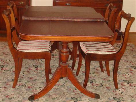 dining room table leaf pads bernhardt duncan phyfe mahogany dining room set