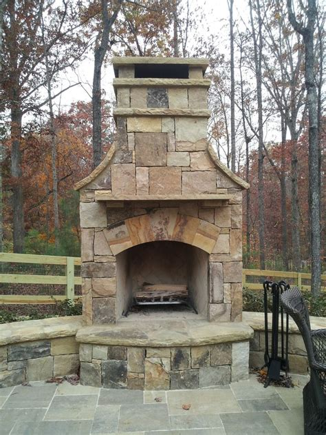 outdoor stone fireplace 10 best images about outdoor stone fireplaces on pinterest