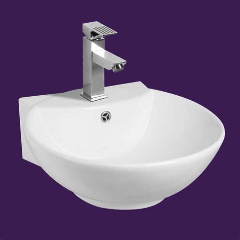 Small Wall Mount Sinks by White Wall Mount Small Vessel Sink Easy Clean And Install
