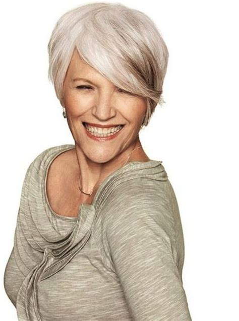 hairstyles for salt and pepper hair for women salt pepper stylish and chic short hair for mature women