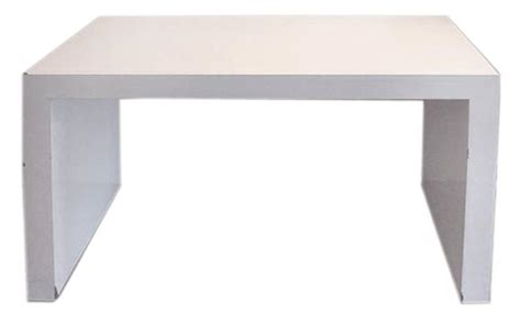 White Parsons Desk by Custom David Hicks Style White Parsons Desk Console