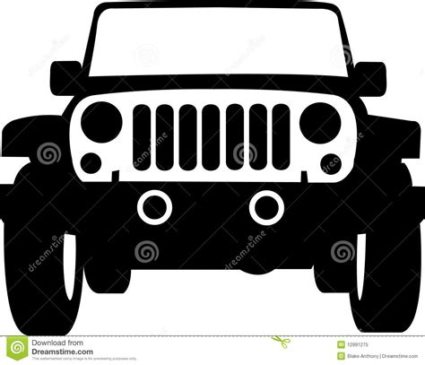 jeep silhouette jeep truck outline stock vector illustration of isolated