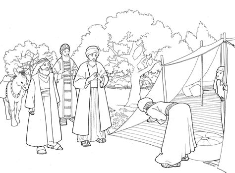 abraham tent coloring page abraham and three visitors coloring page bible pictures