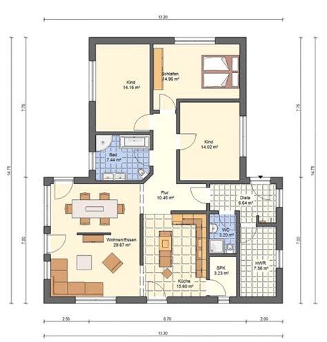 Grundriss Einfamilienhaus 140 Qm by Bungalow Grundrisse 220 Bersicht Mit Vielen Bungalow