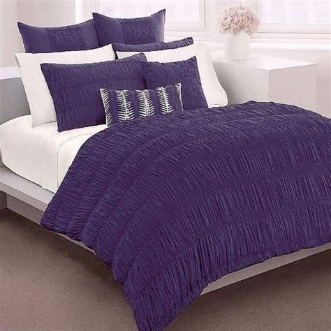 Dkny Willow Duvet Cover new dkny donna willow ruched duvet cover king plum purple 170 ebay