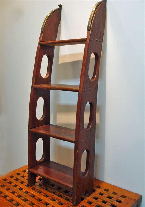 wooden boat ladder hardware mahogany yacht boarding ladder nautical marine maritime