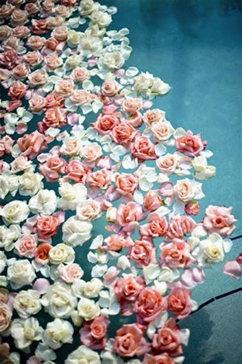 floral water floating florals