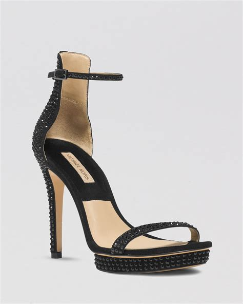 michael kors high heel sandals michael kors platform evening sandals doris high heel in