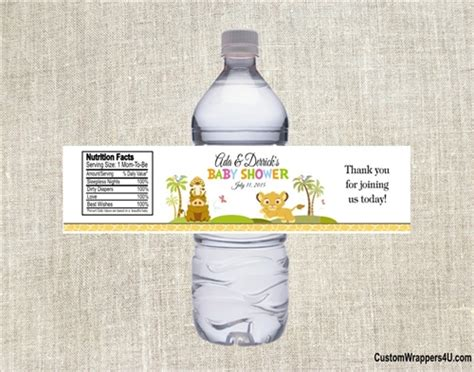 Water Bottle Baby Shower Labels by Baby Shower Water Bottle Label King