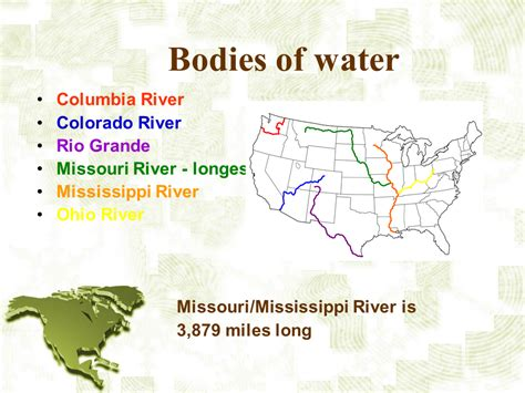 bodies of water list america the continent presentation geography sliderbase