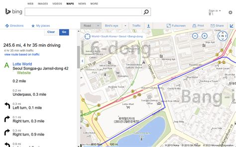 mapquest driving directions map 10원 tips maps shows driving directions in korea