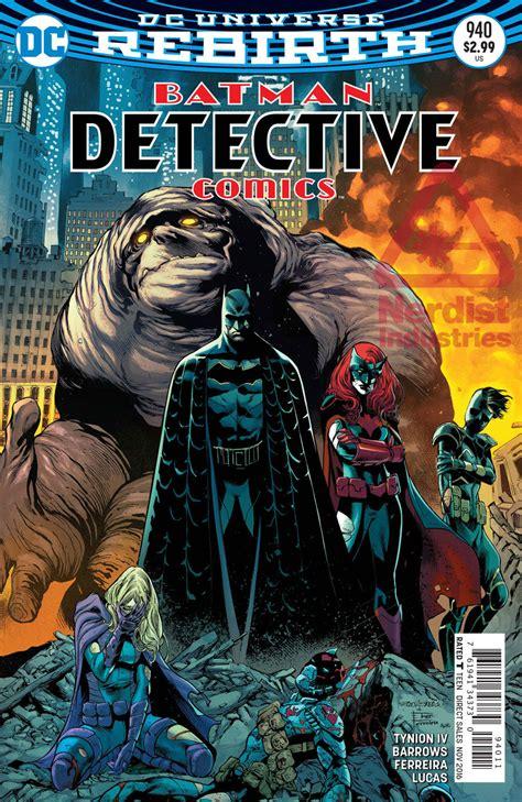 Dc Comics Batman Detective Comics 961 September 2017 will a fall in detective comics 940 exclusive