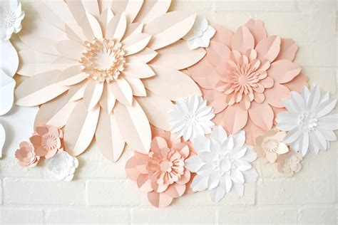 How To Make A Paper Flower Wall - handmade three colour paper flower wall display by may