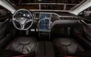Electric Car Tesla Interior Tesla Model S Electric Car Totally Electric Cars