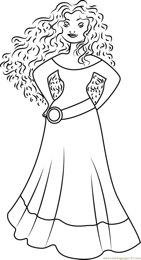 princess merida coloring page princess merida coloring pages