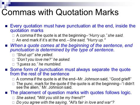 do you always put end punctuation inside quotation marks commas dun dun duunnnnnnn ppt video online download