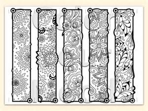 printable coloring zendoodle bookmarks