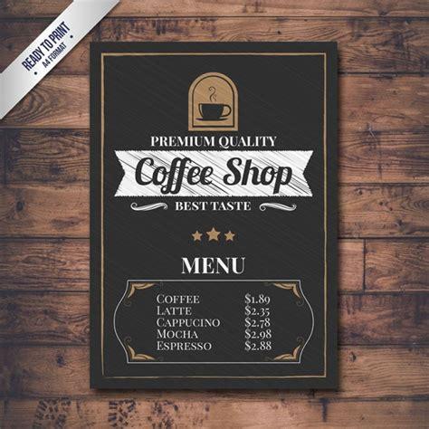 Coffee Price List Template by Retro Coffee Shop Menu Vector Premium