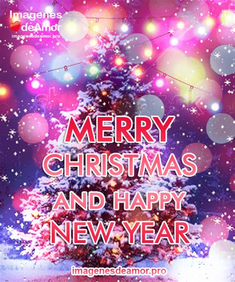 imagenes con frases de navidad en ingles merry christmas and happy new year gifs