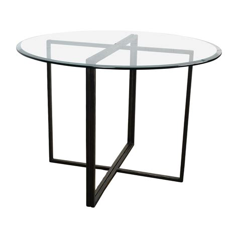 crate barrel dining table 76 crate and barrel crate barrel everitt glass