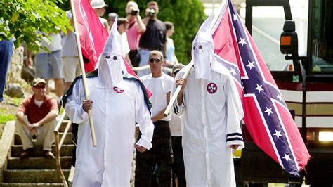 confederate flag rally tests a diminished ku klux klan