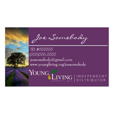 Young Living Business Card Templates Budget Template Free Living Business Card Template