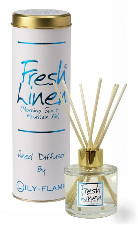 fresh linen reed diffuser reed diffusers lily flame