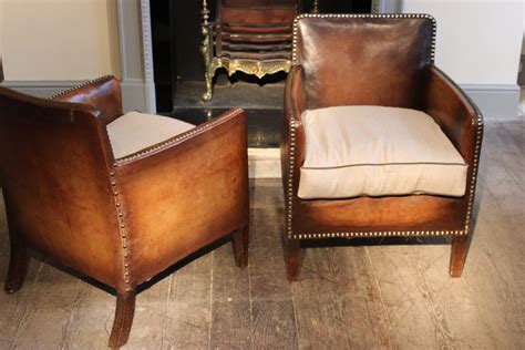 Small Leather Armchairs Uk by Wonderful Pair Of Small 1920s Studded Leather